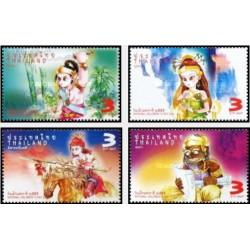 4 عدد تمبر روز ملی کودک  - تایلند 2012