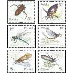 6 عدد تمبر حشرات آبزی - لهستان  1999