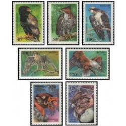 7 عدد تمبر پرندگان شکاری - تانزانیا 1994