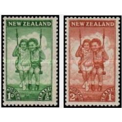 2 عدد تمبر بهداشت - نیوزلند 1942