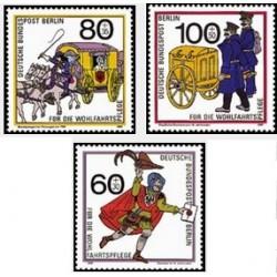 3 عدد تمبر خیریه - برلین آلمان 1989  قیمت 12 دلار