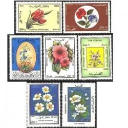 7 عدد تمبر گلها - افغانستان 1988