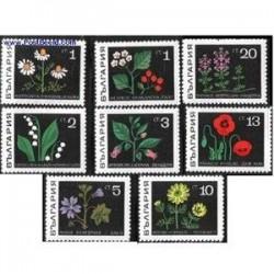 8 عدد تمبر گیاهان داروئی - بلغارستان 1969