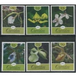 6 عدد تمبر گلهای ارکیده - کوبا 2013