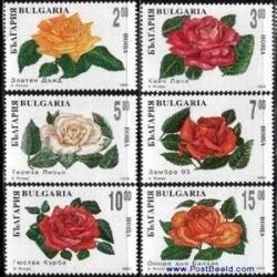 6 عدد تمبر رزها - بلغارستان 1994
