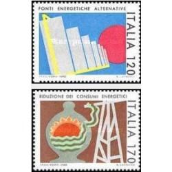 2 عدد تمبر صرفه جوئی انرژی - ایتالیا 1980