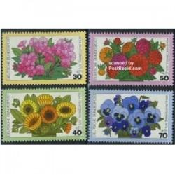 4 عدد تمبر رفاه - گلها - آلمان 1976