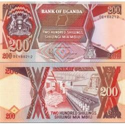 اسکناس 200 شلینگ - اوگاندا 1994