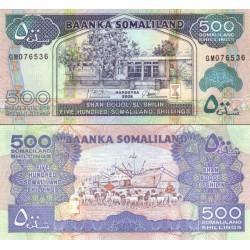 اسکناس 500 شلینگ - سومالی لند 2008