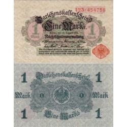 اسکناس 1 مارک  - آلمان 1914