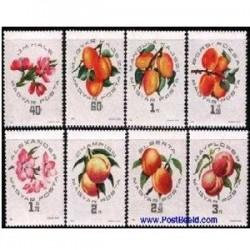 8 عدد تمبر میوه ها و گل - مجارستان 1964