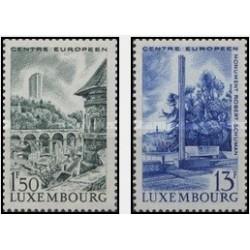 2 عدد تمبر لوگزامبورگ مرکز اروپا - لوگزامبورگ 1966