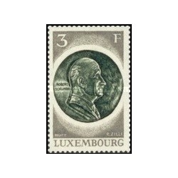 1 عدد تمبر 20مین سالگرد فولاد و ذغال سنگ اروپا - با تب - لوگزامبورگ 1972
