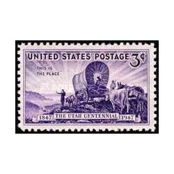 1 عدد تمبر صدمین سالگرد حل و فصل یوتا - آمریکا 1947