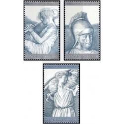 3 عدد تمبر 2000مین سالگرد مرگ ویرژیل - شاعر کلاسیک - سان مارینو 1981