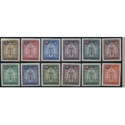 12 عدد تمبر سری پستی - خدمات - لیختنشتاین 1976 قیمت 6 یورو