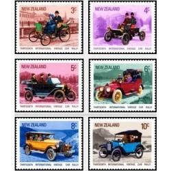 6 عدد تمبر مسابقات بین المللی رالی اتومبیلهای قدیمی - نیوزلند 1972