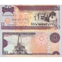 اسکناس 50 پزو - جمهوری دومنیکن 2008 چاپ دلارو لندن
