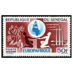 "1 عدد تمبر پست هوایی ""Europafrique"" - سنگال 1964"