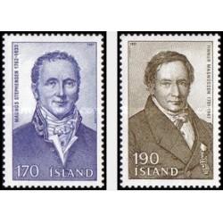 2 عدد تمبر ایسلندی مشهور - ایسلند 1981
