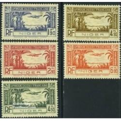 5 عدد تمبر پست هوایی - نیجر 1940