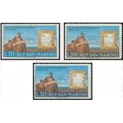 3 عدد تمبر صدمین سالگرد اتحاد ایتالیا - سان مارینو 1961