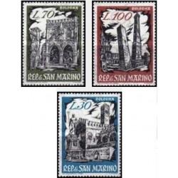 """3 عدد تمبر نمایشگاه تمبر  """"BOFILEX"""" - بولونیا - سان مارینو 1961"""