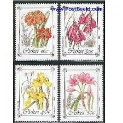 4 عدد تمبر گلها - آفریقای جنوبی - سیسکی 1988