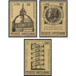 3 عدد تمبر برامانته - واتیکان 1972
