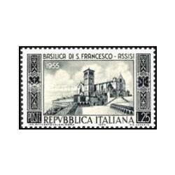 1 عدد تمبر 700مین سالگرد کلیسایی در آسیسی - ایتالیا 1955