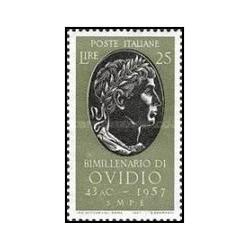 1 عدد تمبر 2000مین سالگرد تولد اوید - شاعر - ایتالیا 1957