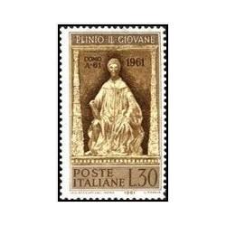 1 عدد تمبر 1900مین سالگرد تولد پلینیوس - طبیعیدان - ایتالیا 1961