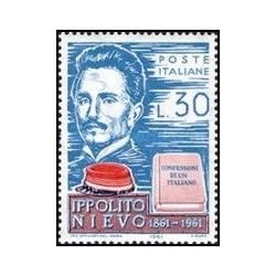 1 عدد تمبر صدمین سالگرد مرگ نیوو - ایتالیا 1961