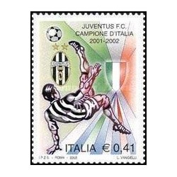 1 عدد تمبر قهرمانی تیم فوتبال یوونتوس - ایتالیا 2002