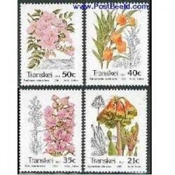 4 عدد تمبر درختان - ترنسکی - آفریقای جنوبی 1989