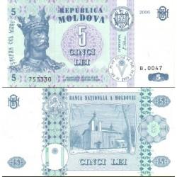 اسکناس5 لی - مولداوی 2006