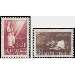 2 عدد تمبر کمکهای ملی - فنلاند 1943