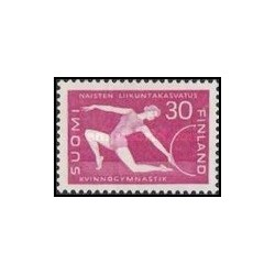 1 عدد تمبر ژیمناستیک - فنلاند 1959