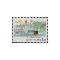 1 عدد تمبر صدمین سالگرد شهر ایدنسالمی - فنلاند 1991
