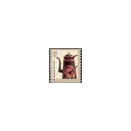 1 عدد تمبر کالاهای لعابی آمریکا - تمبر خودچسب - آمریکا 2002