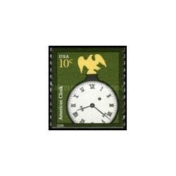 1 عدد تمبر ساعت آمریکایی - تمبر کویل خودچسب - آمریکا 2006