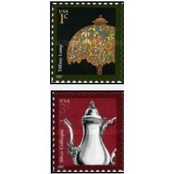 2 عدد تمبر طراحی آمریکایی - خودچسب - آمریکا 2007