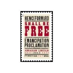 1 عدد تمبر 150مین سالگرد اعلامیه آزادی بردگان - آمریکا 2013