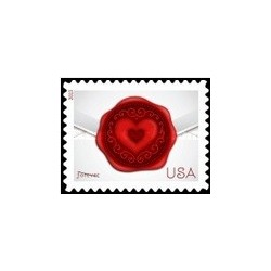 1 عدد تمبر مهر و موم شده با عشق- آمریکا 2013