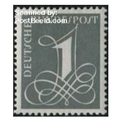 1 عدد تمبر قطعی ، کاغذ معمولی - جمهوری فدرال آلمان 1955