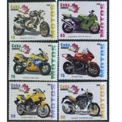 6 عدد تمبر موتور سیکلت - کوبا 2009