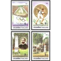 4 عدد تمبر صدمین سالگرد بازیهای المپیک مدرن - تایلند 1996