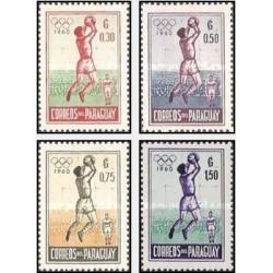 4 عدد تمبر بازیهای المپیک - رم ، ایتالیا - پاراگوئه 1960