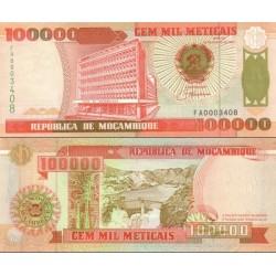 اسکناس 100000 متیکا - موزامبیک 1993