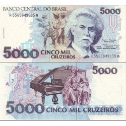 اسکناس 50000 کروزرو- برزیل 1993